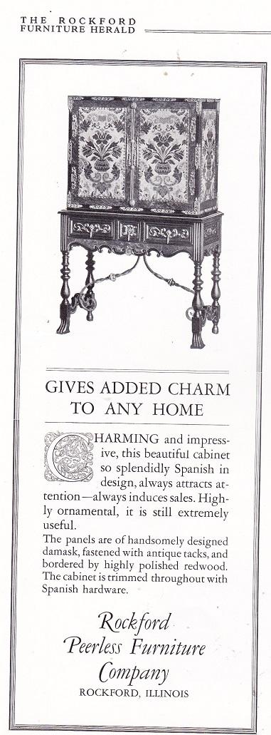 Good Rockford Peerless Furniture Co., Ad U2013 August 1926