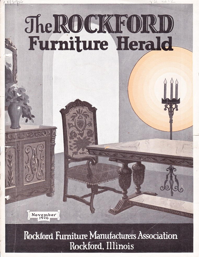 Source: Actual Cover Of Rockford Furniture Herald, Published By Rockford Furniture  Manufacturers Association, November, 1926; Vol. 2, No. 12