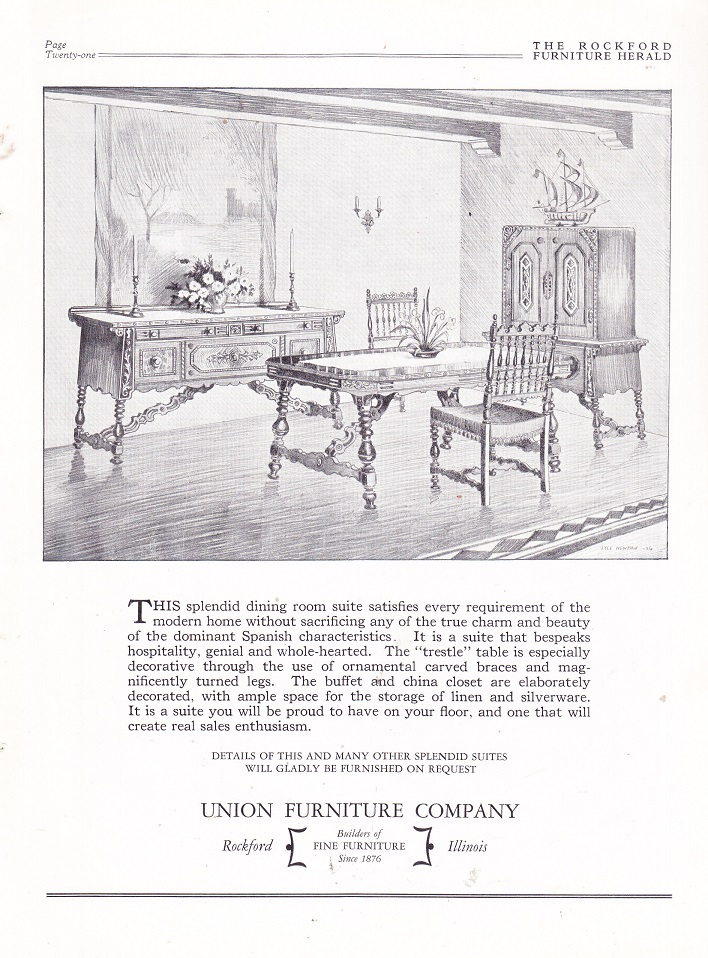 Union Furniture Co., Ad U2013 Oct 1926
