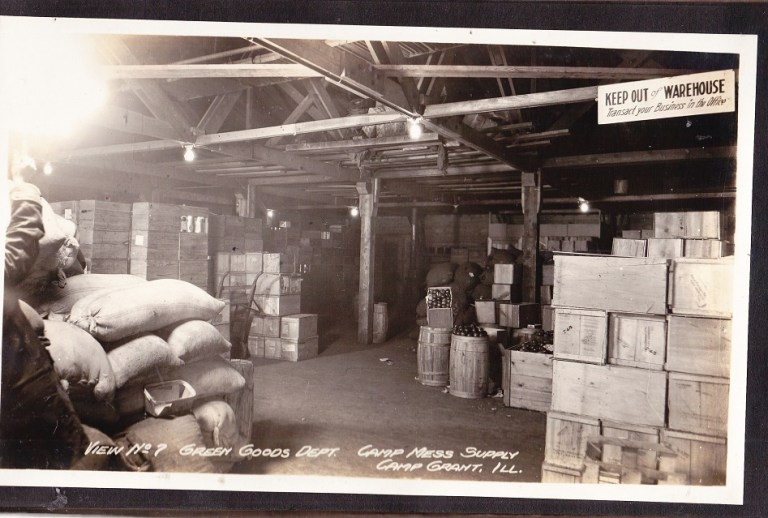 camp grant wwi green goods dept camp grant mess supply rpl 39 s local history. Black Bedroom Furniture Sets. Home Design Ideas