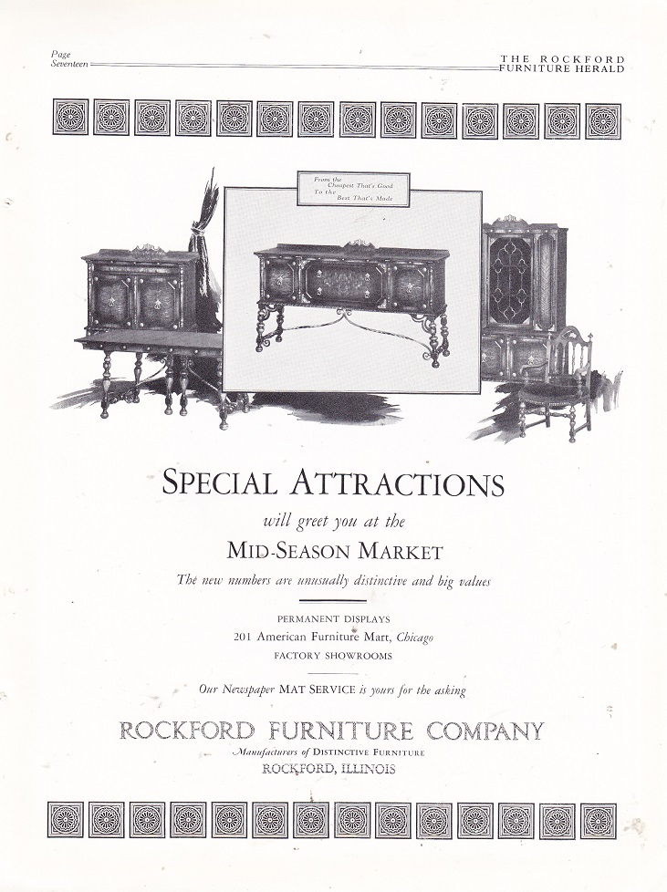 Captivating Rockford Furniture Co., Ad U2013 April 1927