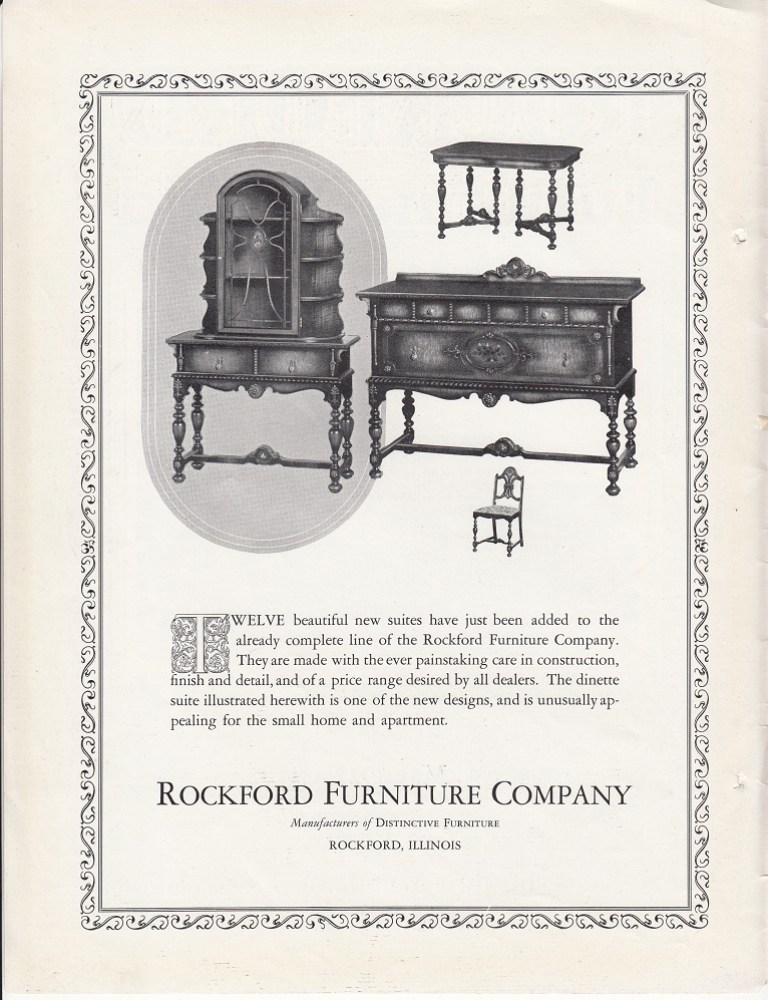 Rockford furniture co rpl 39 s local history for May company furniture