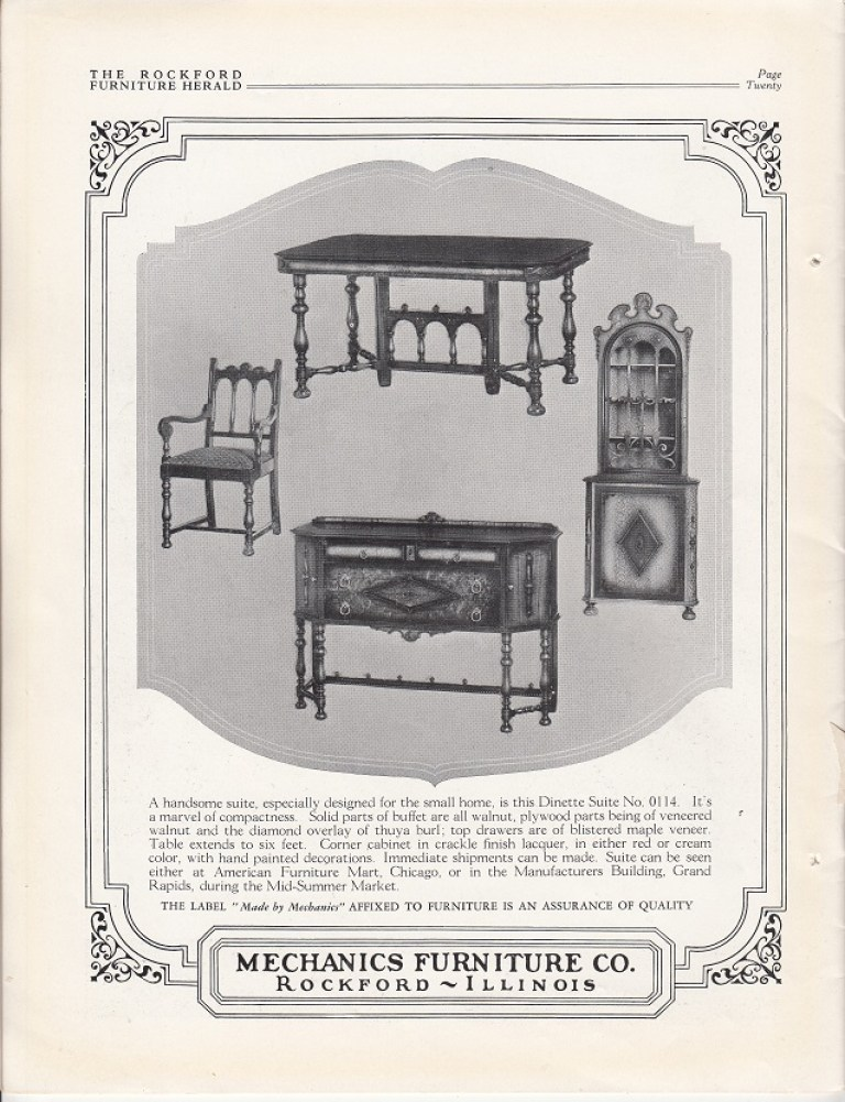Mechanics furniture co rpl 39 s local history for May company furniture