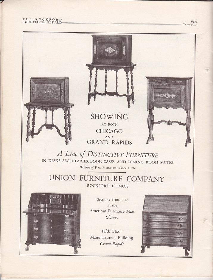 Union Furniture, Ad U2013 June 1927