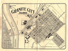 A 1904 fold-out map of Granite City.