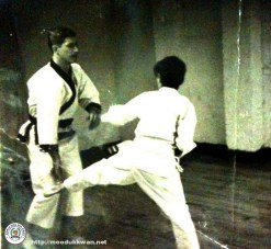 Master Eugene Perceval sparring with a Gup member.