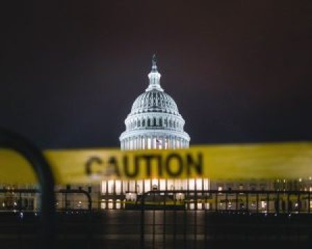Caution Tape at the United States Capitol in Washington D.C.