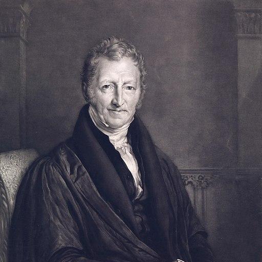 A portrait of Robert Thomas Malthus, 1834