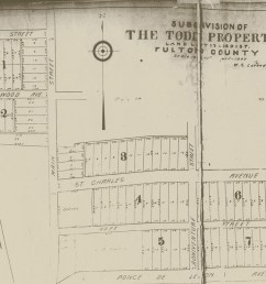 the todd property subdivision development map from april 1907 virginia highland civic association [ 1377 x 1016 Pixel ]