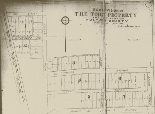 small resolution of the todd property subdivision development map from april 1907 virginia highland civic association