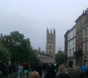 Tower of Magdalen College May Day