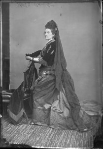 "Miss Cantin dressed as ""A Spanish Lady"". http://collectionscanada.gc.ca/pam_archives/index.php?fuseaction=genitem.displayItem&lang=eng&rec_nbr=3477417"