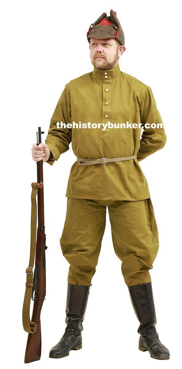 WW2 Soviet Infantry Combat Soldier uniform for hire