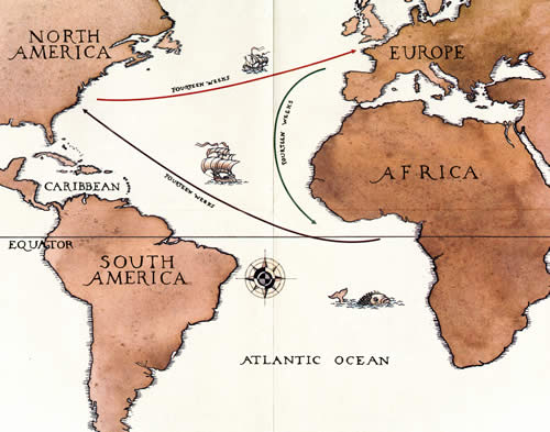 Image result for atlantic slave trade maps