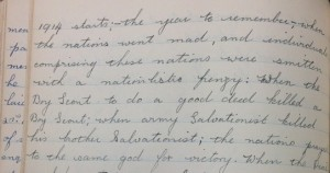 Excerpts from William Belcher's autobiography