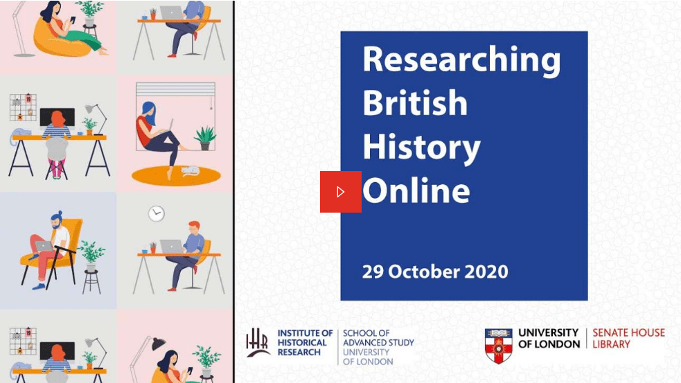 Researching history online – a new series of online sessions by Senate House Library and the IHR