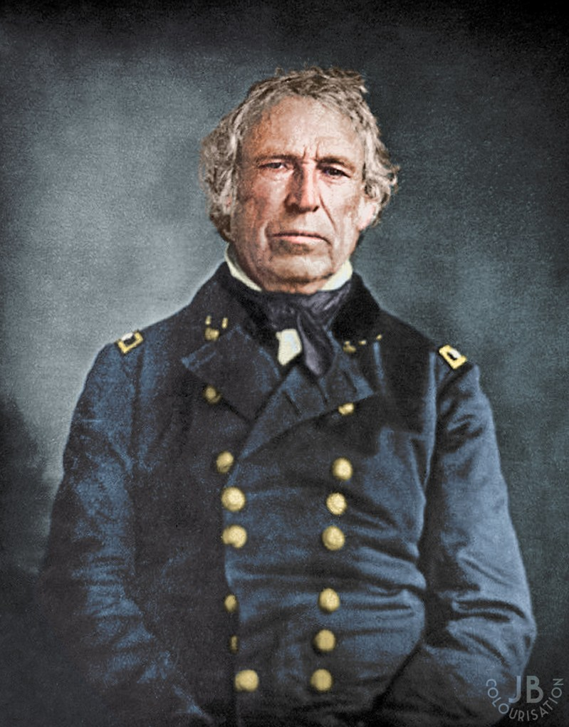 Color portrait of former President of the United States Zachary Taylor.