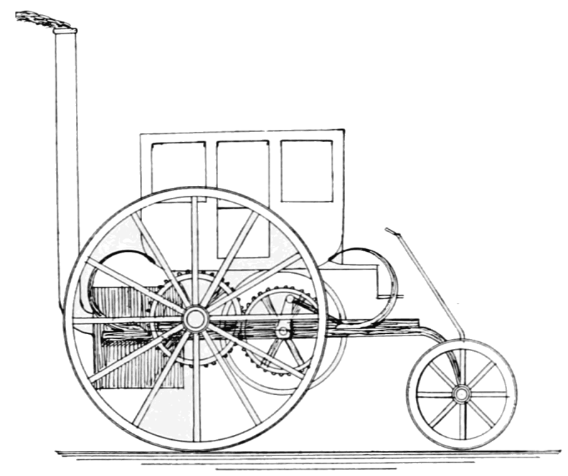 Steam carriage built by Richard Trevithick in 1803.