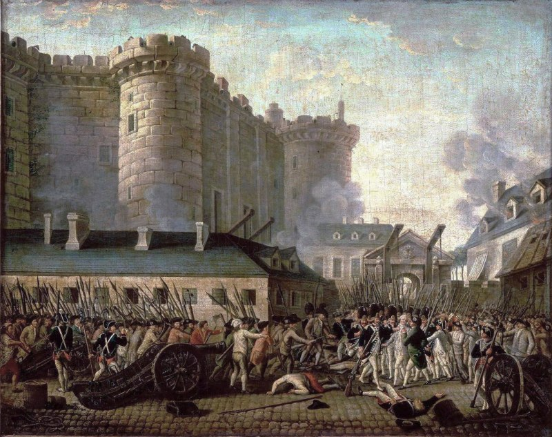 The Storming of Bastille during the French Revolution