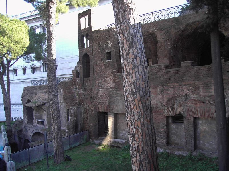 The remains of a destroyed roman building.