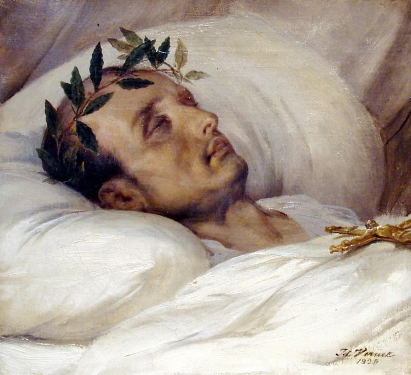 Napoleon on his death bed