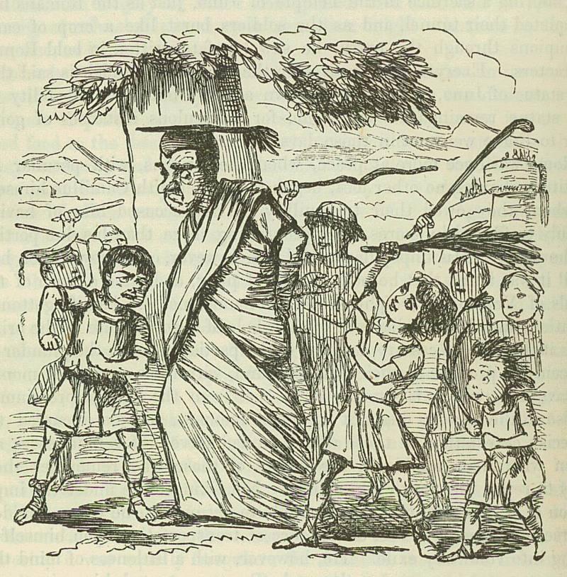Image by John Leech, from: The Comic History of Rome by Gilbert Abbott A Beckett.