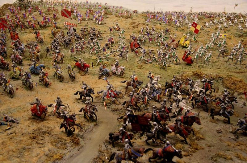 Battle of Bosworth diorama