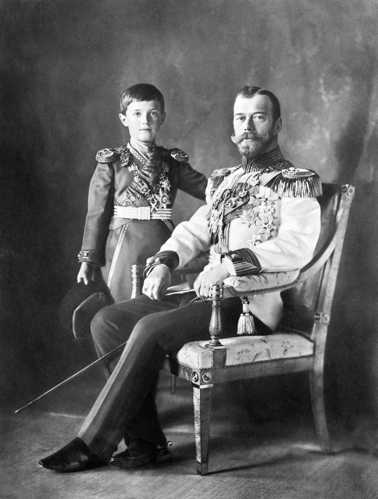 Tsar Nicholas II of Russia with his son Alexei