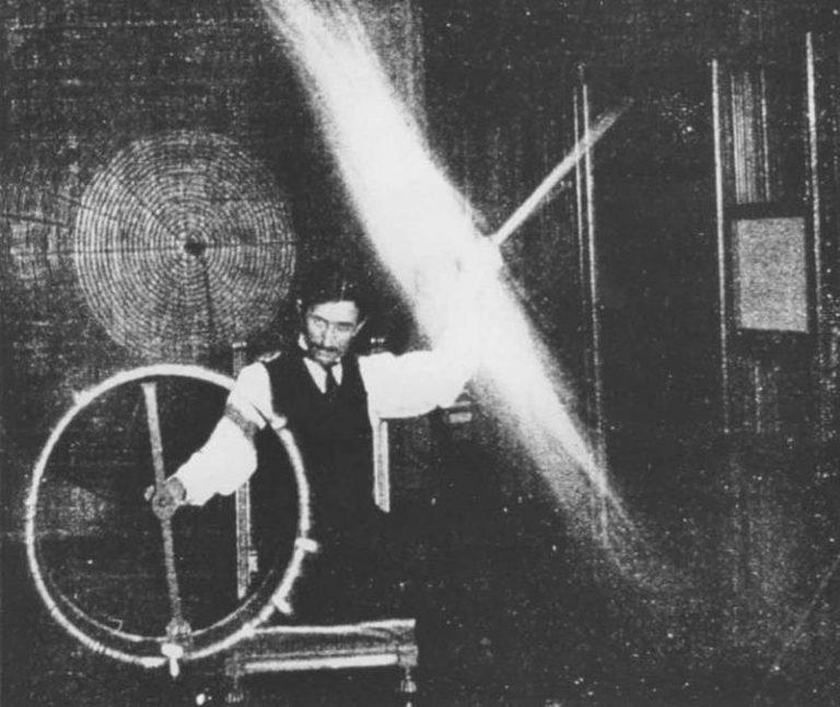 Nikola Tesla in his lab 1891