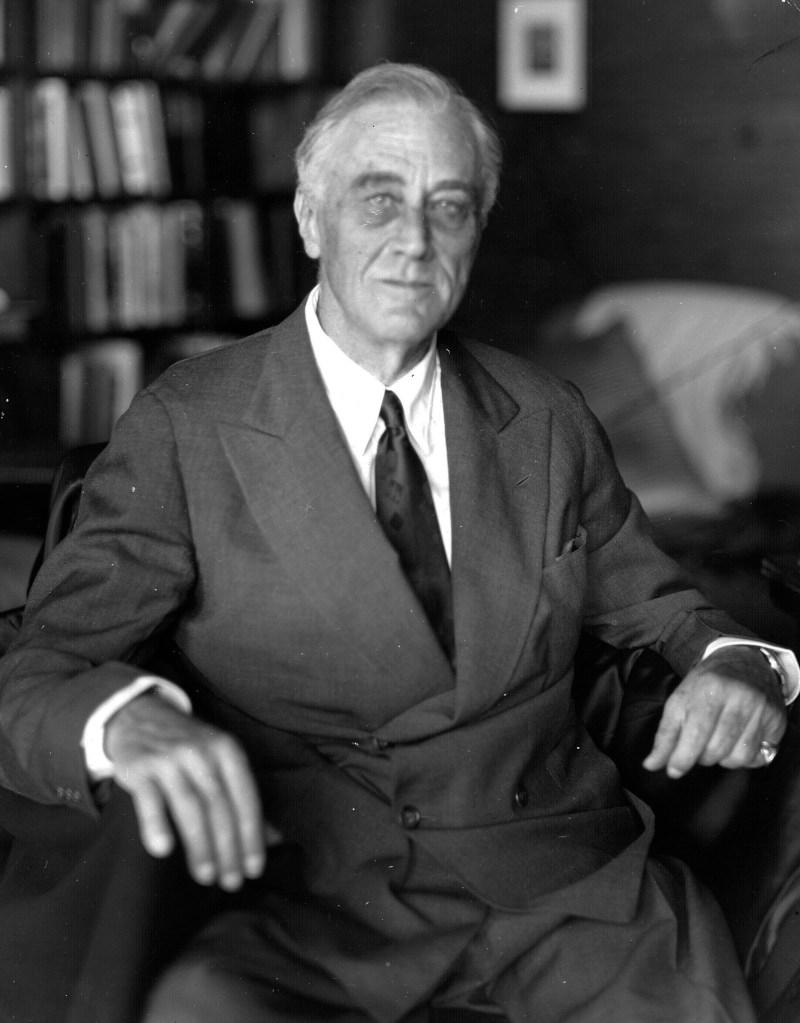 Last photograph of Franklin D. Roosevelt (FDR). Taken in April 1945