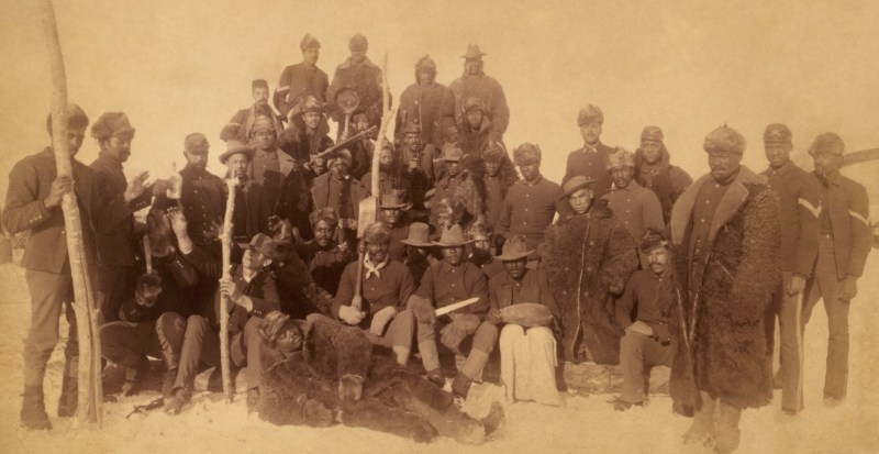 Group of Buffalo Soldiers in 1890