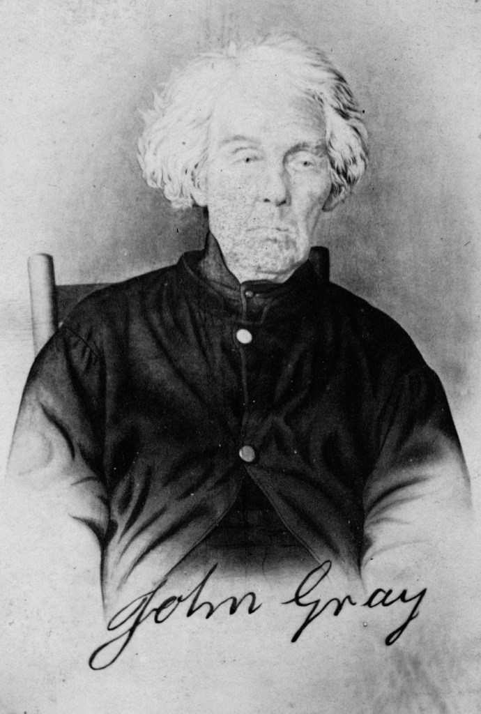 John Gray, veteran of the American Revolution photographed in circa 1868