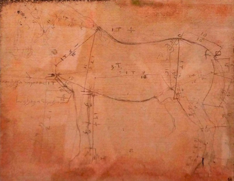 Horse monument design by da Vinci