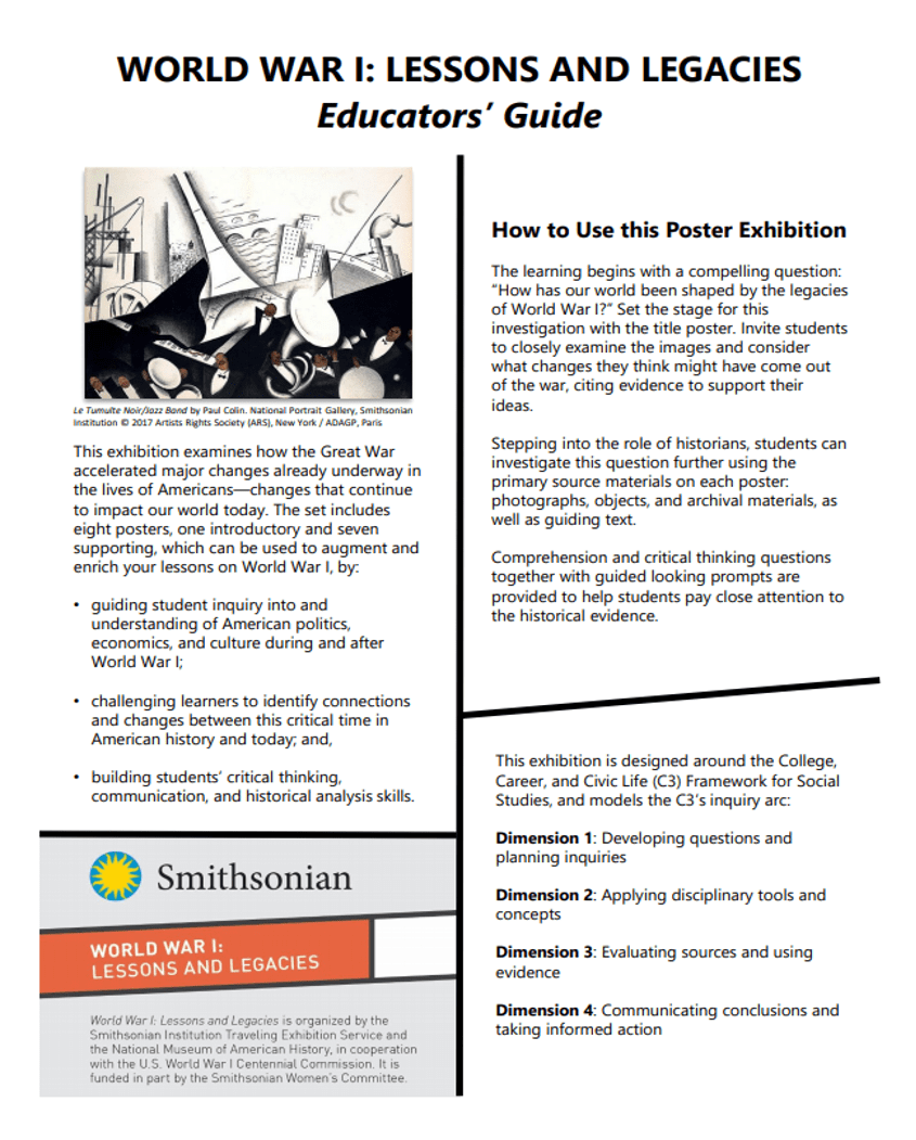 hight resolution of Lessons \u0026 Activities   Smithsonian's History Explorer