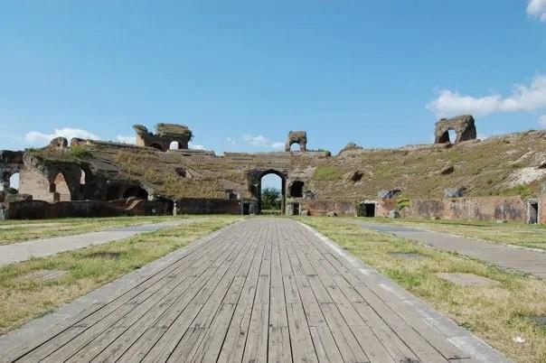 An empty gladiator school in Capua, Italy