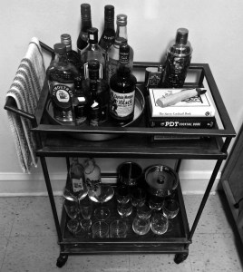I love coming home to my little bar cart. Especially if I'm adding something I picked up on my latest trip.
