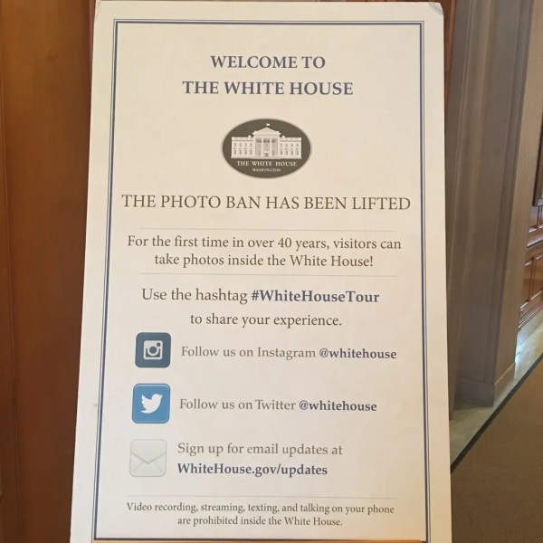The White House is now open for photos!