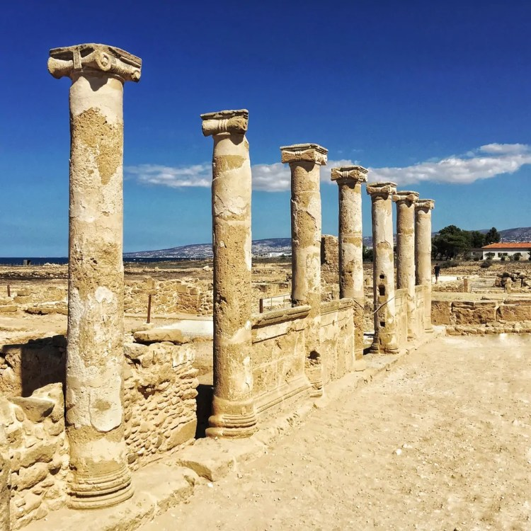 Columns in the House of Theseus in Paphos