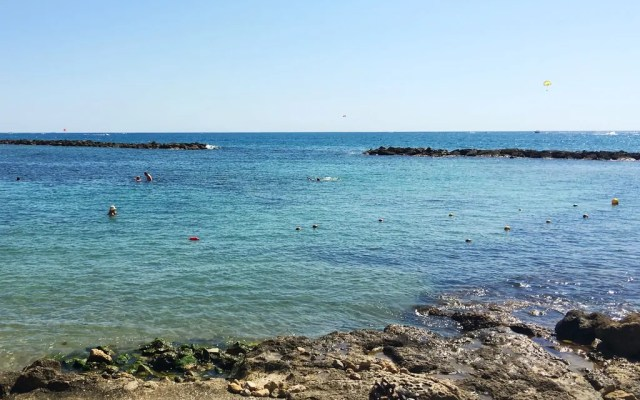 Aykles Beach in Paphos is beautiful but very rocky so bring your swim shoes!