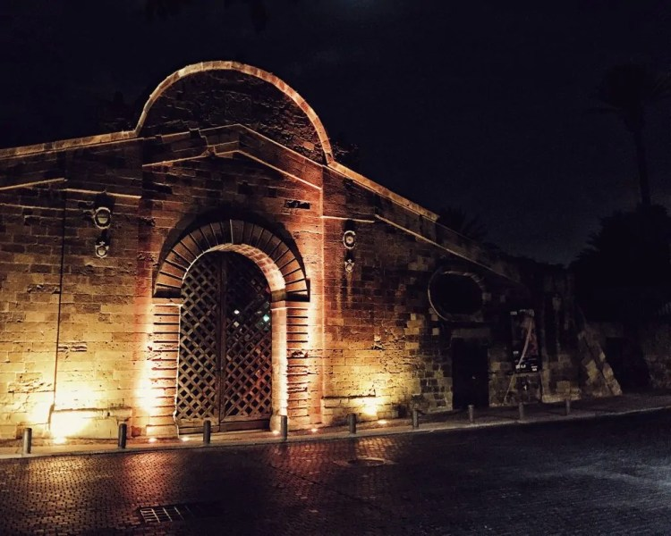 The Famagusta Gate at night