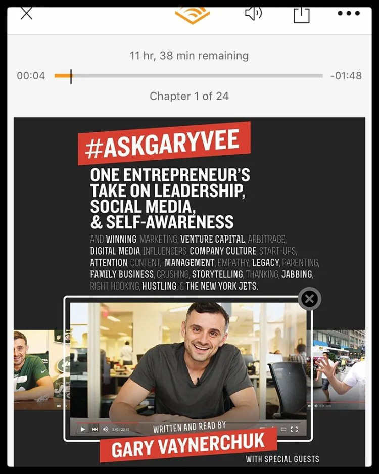 #AskGaryVee on my Audible account