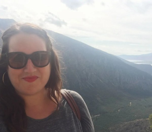 Selfie at Delphi ... cracks me up when I say it in my head