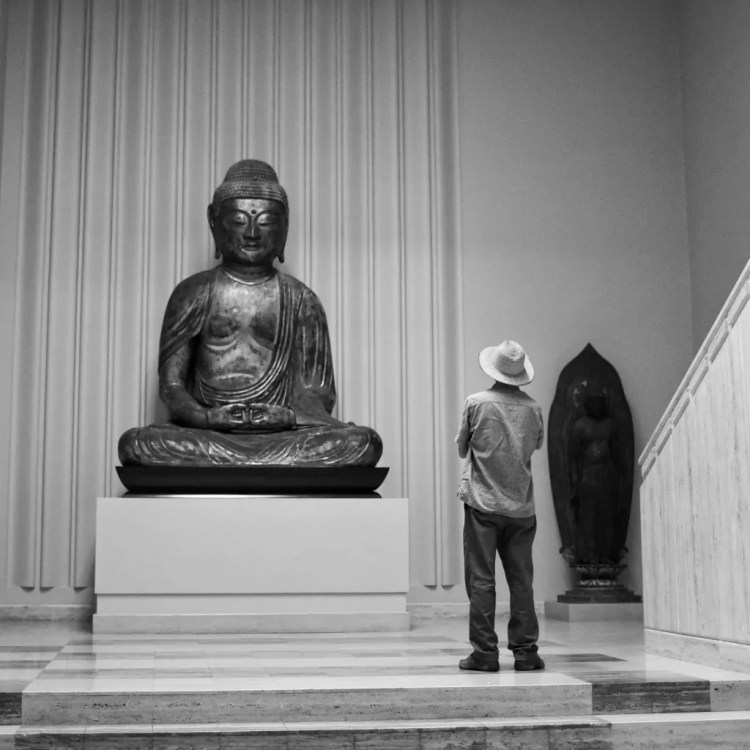 I walked into this scene while visiting the Nelson-Atkins museum in Kansas City
