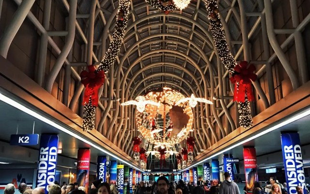 Flying through Chicago O'Hare at Christmastime last year