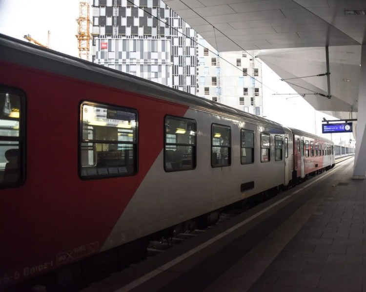 Taking the train from Vienna to Bratislava