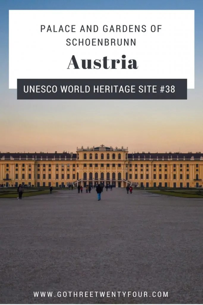 UNESCO World Heritage Site #38: Palace and Gardens of Schoenbrunn (Austria)