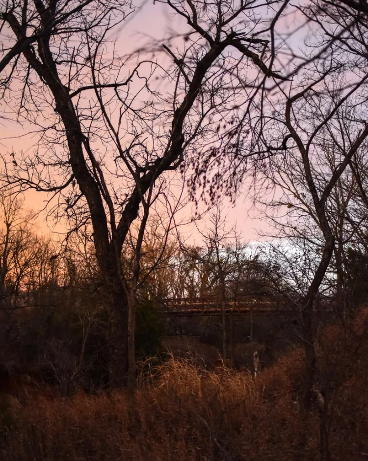 The bridge at sunset