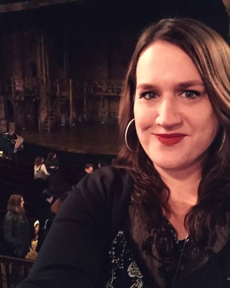 Post-show, post-makeup retouching selfie.