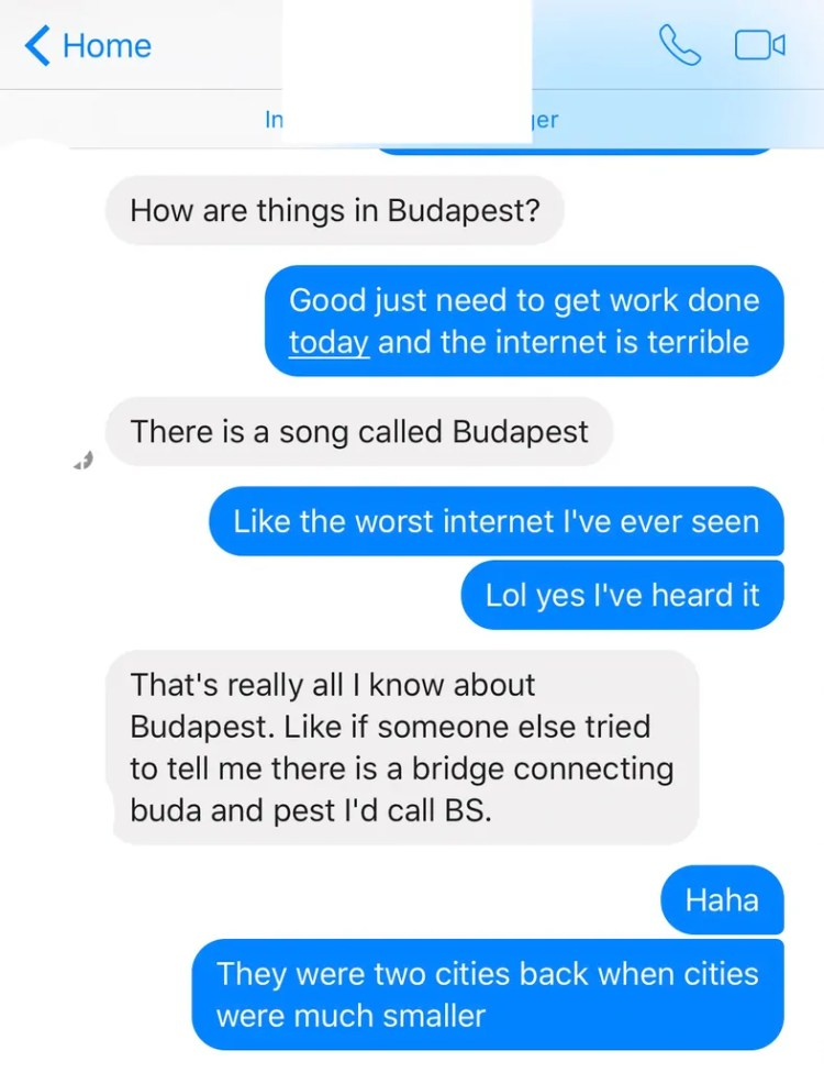 There's a song called Budapest....