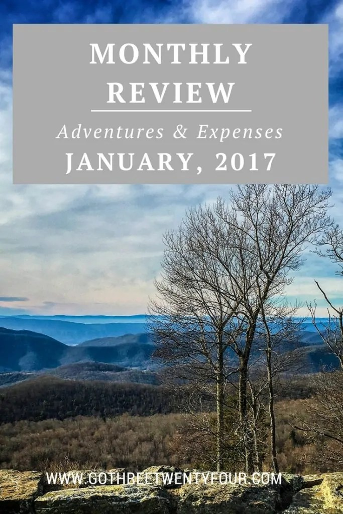 January 2017: Adventures & Expenses